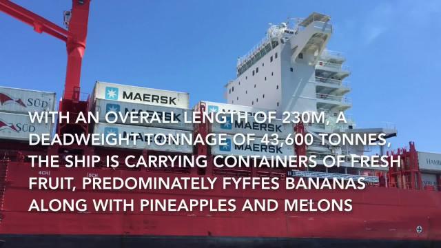 Port of Cork pilot boards the container ship MV Polar Costa Rica